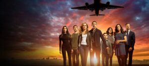 Название сериала, где самолет приземлился через 5 лет.