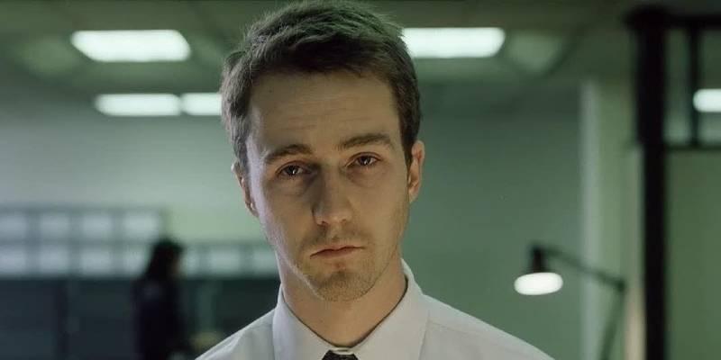 Кадр из фильма Бойцовский клуб.